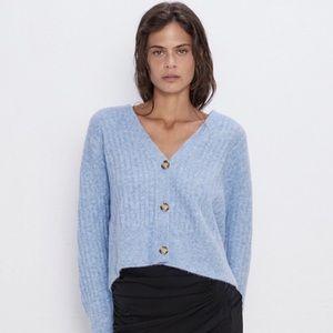 Zara Knit Button Up Jacket